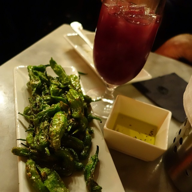 Buceo 95 - Upper West Side - NYC -  blistered green peppers, coarse sea salt & sangria