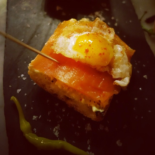 Buceo 95 - Upper West Side - NYC – Salmon Ahumado – smoked salmon, fried quail egg, lemon aioli