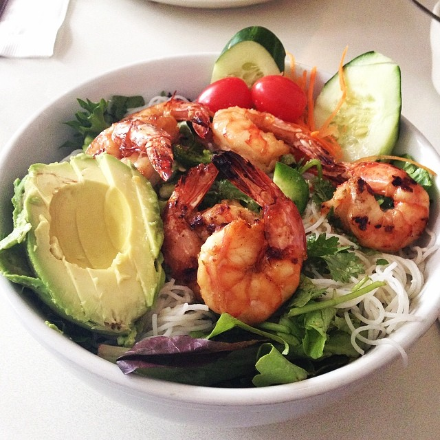 Mooncake Foods - Midtown - Hell's Kitchen - NYC - Lemongrass Shrimp and Rice Noodle Salad