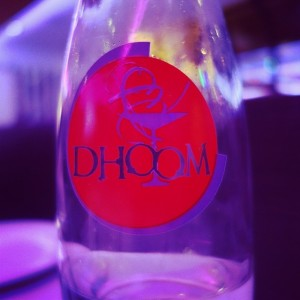 Dhoom - Secaucus, NJ – Nice personalize water bottles they have at the tables