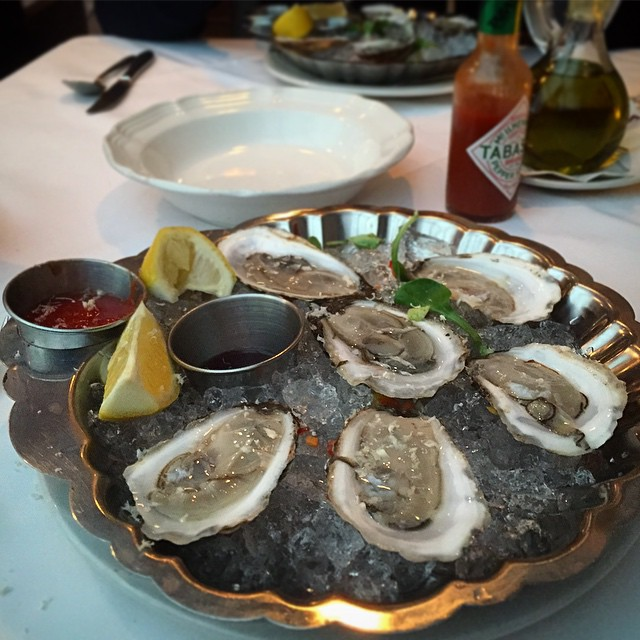 Bareli's – Secaucus NJ – Cape May Oysters with horseradish, cocktail sauce, tobacco and lemon