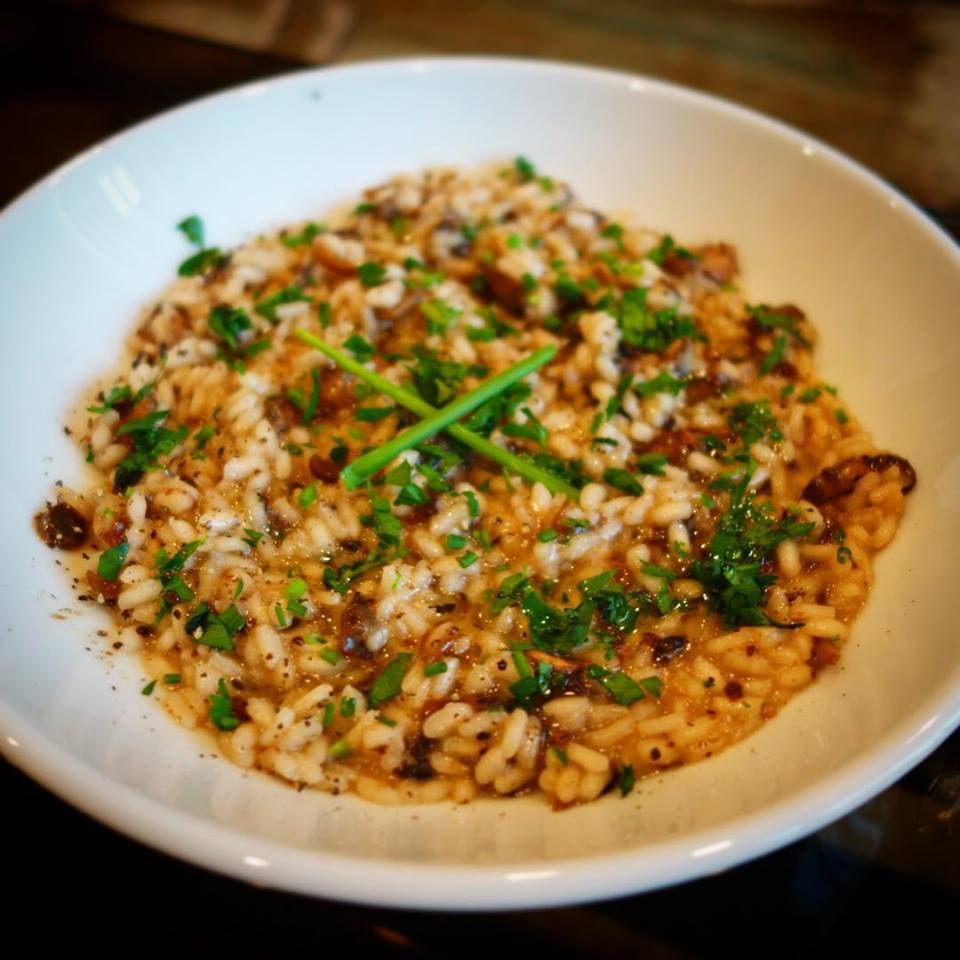 Home Chef - Truffled Mushroom Risotto with Truffle Oil, Chives, and White Wine