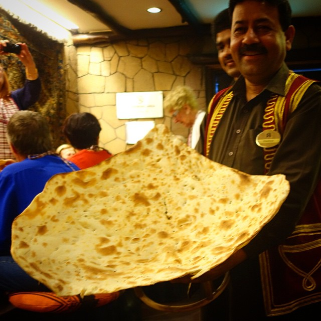 Naan Bukhara. We almost ordered this giant naan accidentally! How beautiful is this? The naan there was amazing but there is no way the two of us could've eaten this haha. Bukhara New Delhi is no joke. It is amazing. If you go to New Delhi you have to eat here. Make sure you make a reservation. It is located in the ITC Maurya Hotel. I have to check out the location in NYC sometime.