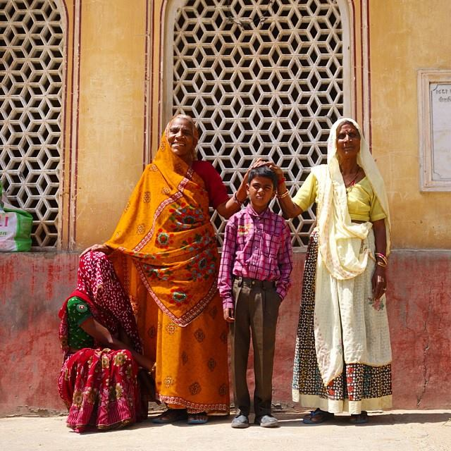 These were residents of the Monkey Temple, Galtaji. They wanted us to take a picture of them. They were so sweet and happy. Everyone in India is happy. It is quite amazing.  Jaipur, Rajasthan.