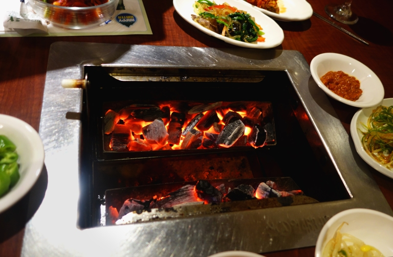So Moon Nan Jip – Korean BBQ - Palisades Park NJ  -  fire for our BBQ grill