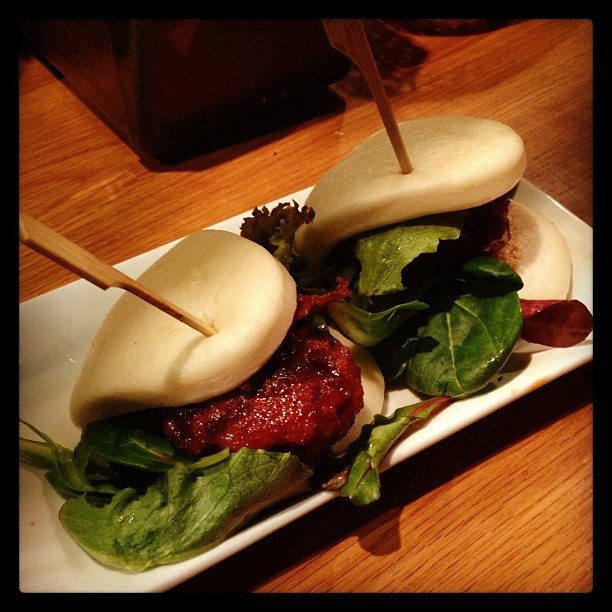 Totto Ramen - Midtown 52nd Street NYC  - Teriyaki chicken buns (one of my first IG pics haha)