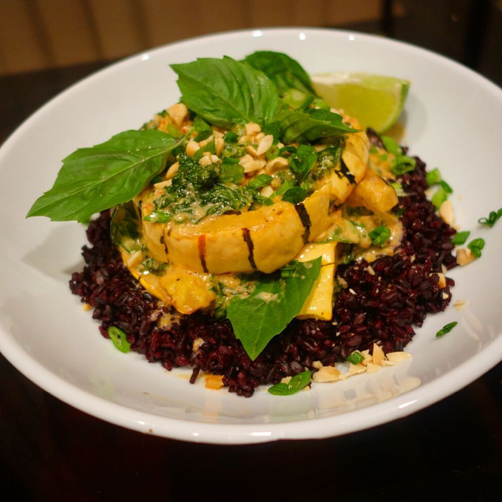 Delicata Squash Red Curry with Black Rice & Thai Basil - Blue Apron