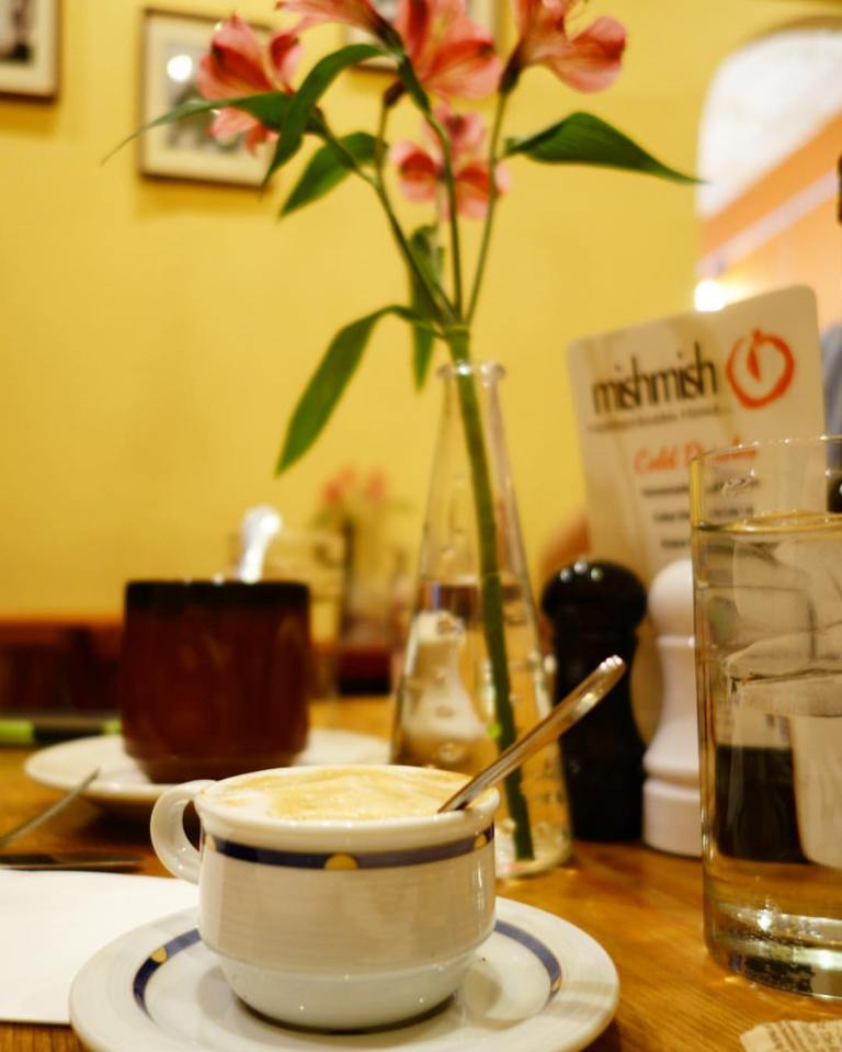 Mish Mish Montclair - Ambiance with delicious caffeinated beverages and fresh flowers FTW