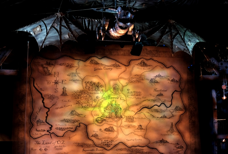The set for Wicked, The Gershwin Theatre