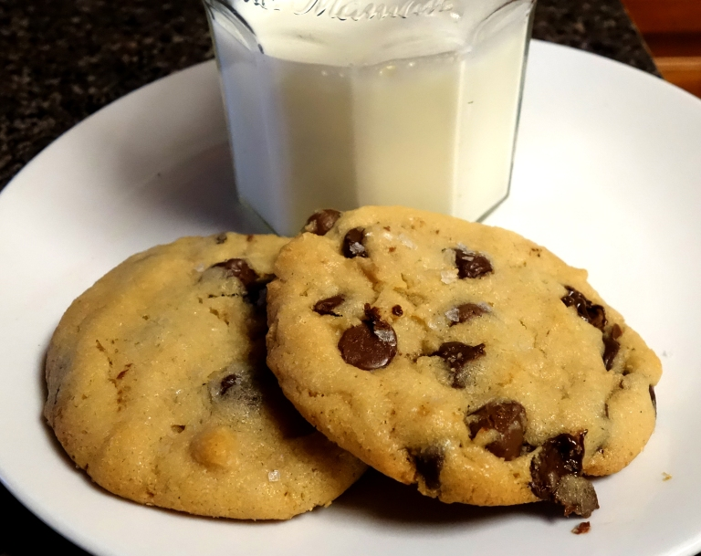 Sea Salted Tahini Chocolate Chip Cookies