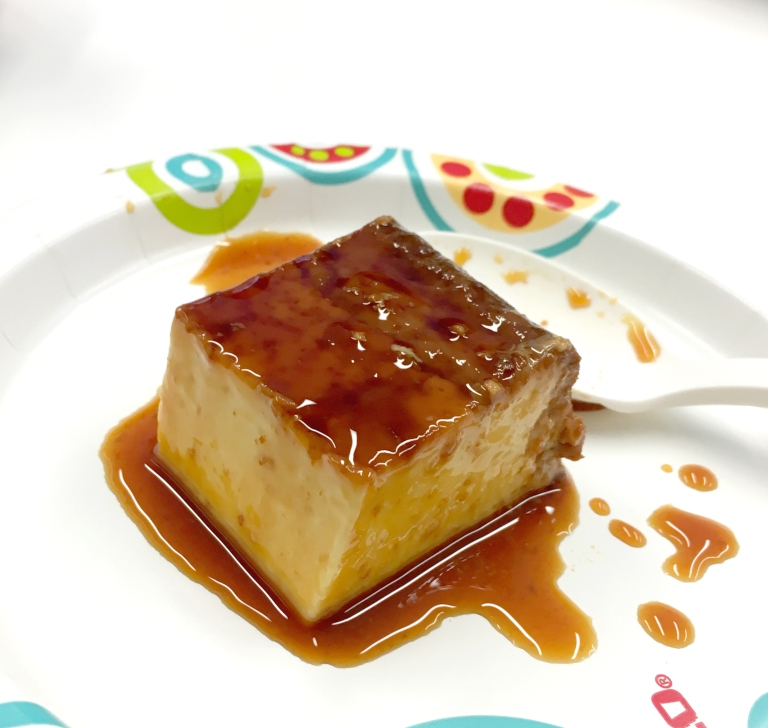 Flan - a piece just for me :) YUM