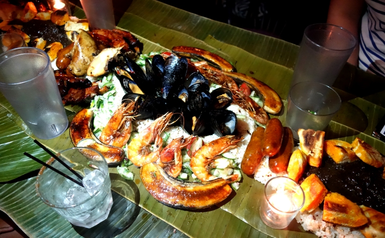 Jeepney - The feast is repeated in sections for larger tables. This was the section I shared with my end of the table