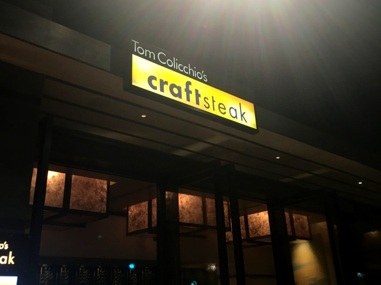 The entrance to Tom Colicchio's CraftSteak in MGM Grand, Las Vegas, NV