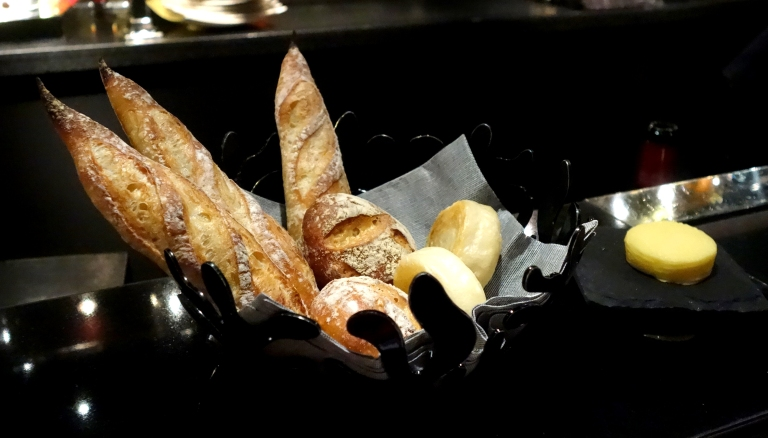 L'Atelier – by Joël Robuchon, Las Vegas – the bread selection. YUM
