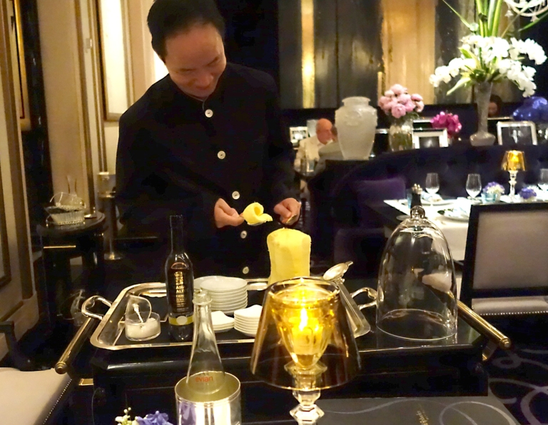 Joël Robuchon – by Joël Robuchon, Las Vegas – The butter they serve is sent here from France. It is served table side and topped with Maldon.