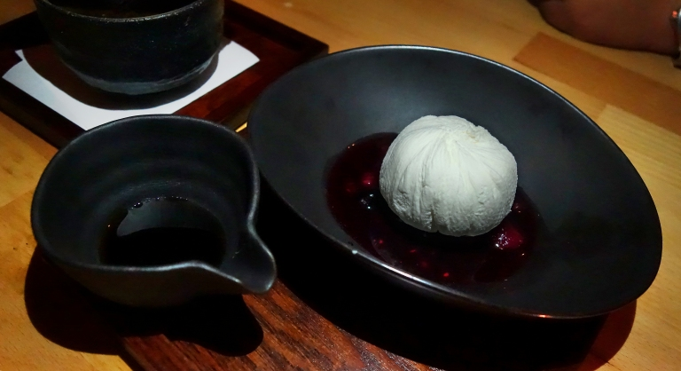 Sakamai – Yogurt Meringue Mousse – mixed berry sauce, kuromitsu black sugar sauce. I loved this. I have never had anything like it and I do suggest you try it.