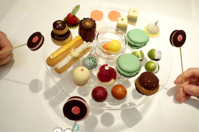 Joël Robuchon – by Joël Robuchon, Las Vegas – Our selections from the dessert cart. Again, you can get every single thing off of this cart if you so choose, you do not need to be shy. The waiter even expertly plates them all for you in a beautiful way.