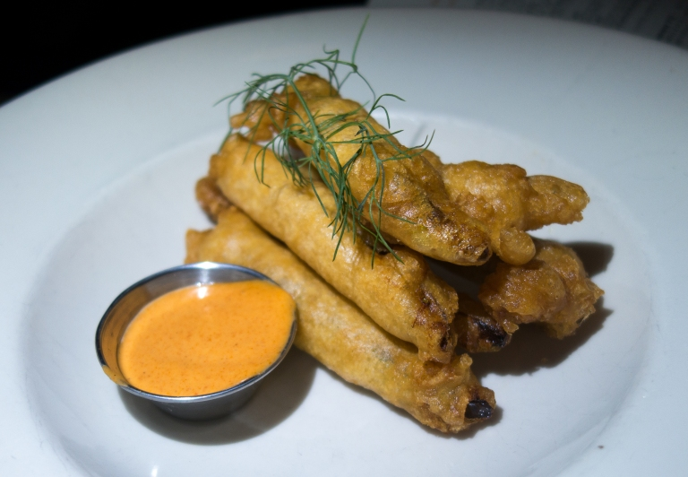 Jacob's Pickles – Fried Pickles with spicy red mayo